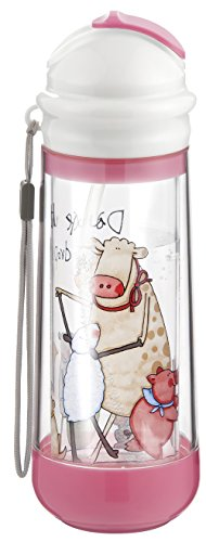Buggygear Drinkadeux Glass Double Wall Bottle - Cupcake/Farm