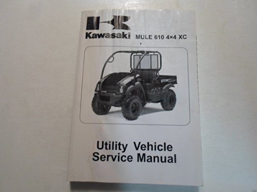 2010 Kawasaki Mule 610 4x4 XC Utility Vehicle Service Manual WATER DAMAGED