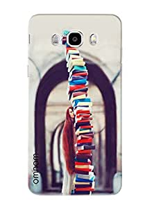 Omnam Girl Carrying Bunch Of Books Printed Designer Back Case Samsung Galaxy J7 (2016)