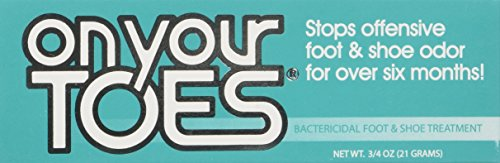 On Your Toes Foot Bactericide Powder - Eliminates Foot Odor for Six Months, 21 grams (One Pack) (Smelly Feet Powder compare prices)