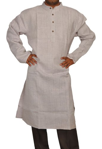 Designed Mens Casual Cotton Long Kurta Fabric For Winter & Summers Size-8XL