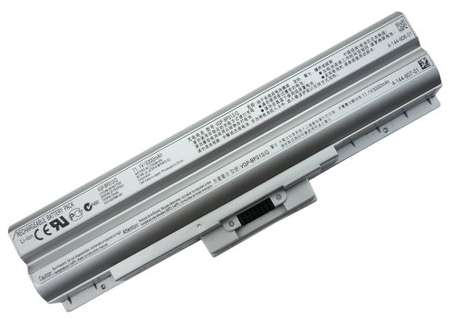 Sony VAIO VGN-BZ, VGN-SR, VGP-BPS13/A, VGP-BPS13B/B, VGP-BPS13B/S, SUPERIOR 6-Cell Battery, New Version! (Silver) Tech Rover(tm) brand [No BIOS update needed - just like Original Sony]