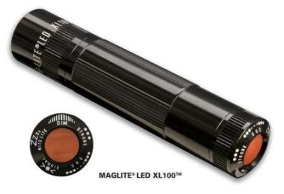 XL100 LED MagLite Flashlight - Black