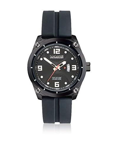 Lancaster Uhr mit japanischem Uhrwerk Man Top Up Time Tempo Black 47 mm