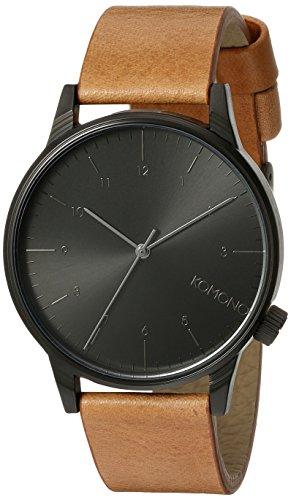 komono-mens-quartz-watch-with-black-dial-analogue-display-and-brown-pu-strap-kom-w2253