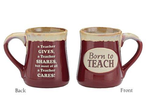 """Porcelain Teachers Mug """"Born To Teach"""""""