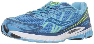Saucony Women's Progrid Ride 5 Running Shoe,Blue/Citron,5 M US
