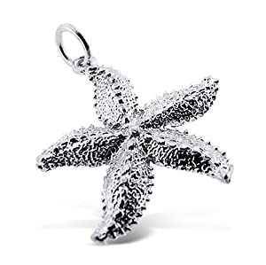 Sterling Silver 925 Authentic Under the Sea Starfish Charm. Adjustable Fit with High Quality Finish. Plus Free Special Gift Pouch.