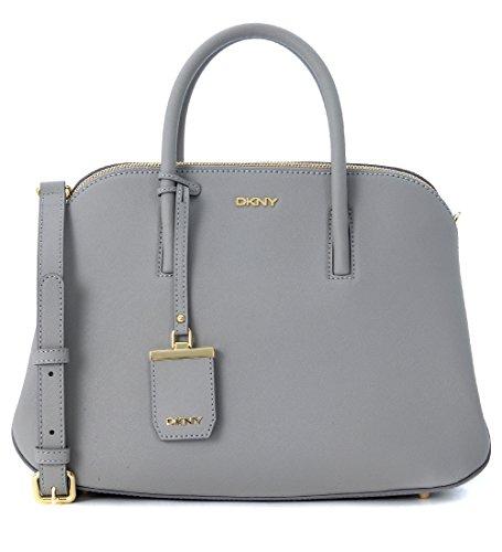 Borsa a mano DKNY in pelle saffiano grigio