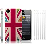 IPhone 4S / iPhone 4 'Hope and Glory' Union Jack (Designed by Creative Eleven) TPU Gel Skin / Case / Cover + 6-in-1 Screen Protector Pack - Part Of The Qubits Accessories Range