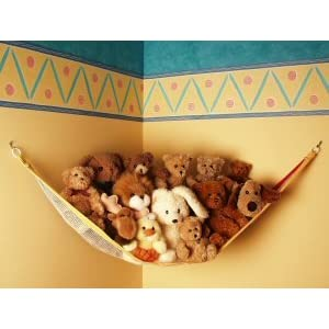 Image: ToyTech Teddy Hammock Toy Storage Net - Holds 15 to 20 average size animals.