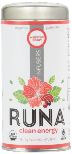 Runa Amazon Guayusa Pyramid Infusers, Hibiscus-Berry, 16 Count
