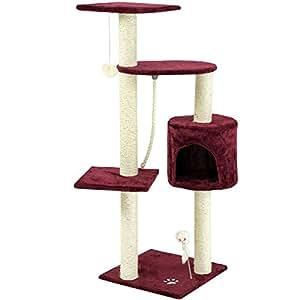 Sam´s Pet Kratzbaum Polly - Höhe: 113 cm - weinrot