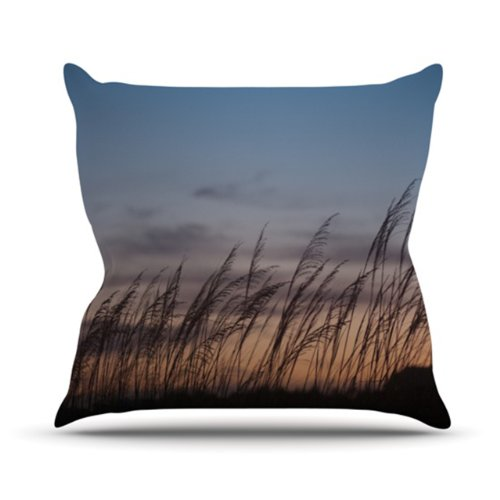 "Kess InHouse Catherine McDonald ""Sunset on The Beach"" Outdoor Throw Pillow, 16 by 16-Inch"