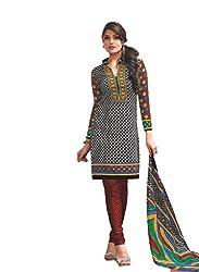 Design Willa Cotton Dress Material Saree (DW0289)