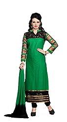 Krishna Fashion Women's Cotton Unstitched Dress Material (hari 1106_Multicolor_Free Size)