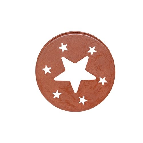 CWI Gifts 4-Piece Rusty Star Candle Jar Lid Set