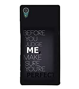 Quote 2D Hard Polycarbonate Designer Back Case Cover for Sony Xperia Z5 :: Sony Xperia Z5 Dual