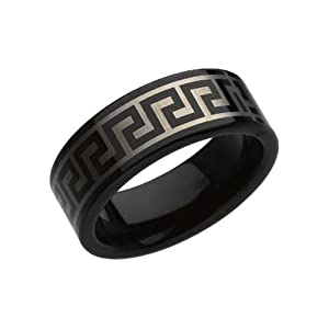 Black Tungsten Wedding Bands (8mm)