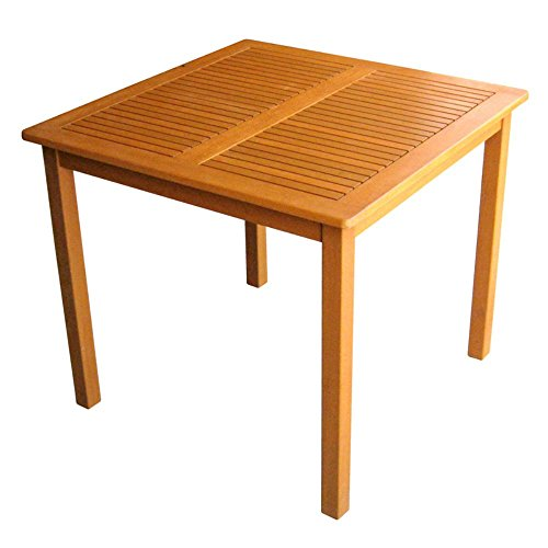 International Caravan Royal Tahiti Balau Wood 32 x 32 in. Patio Table (Balau Wood compare prices)