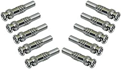 MERSK HIGH QUALITY BNC Connector for CCTV Camera,[ Pack of 10Pcs. Connectors]