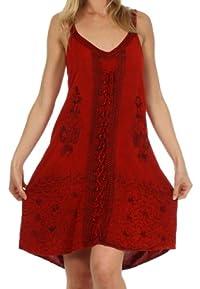 Sakkas Sakkas Jayanti Embroidered Rayon Dress