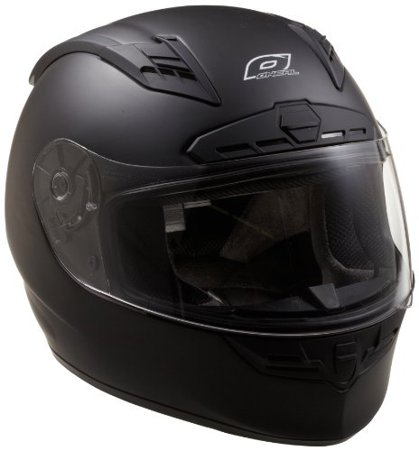 O'Neal Fastrack Ii Motorcycle Helmet With Bluetooth Technology (Flat Black, Large)