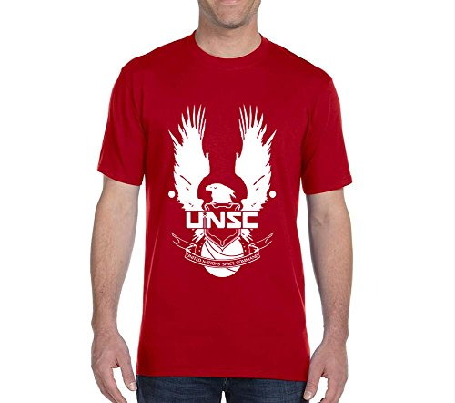 Luckymarch A0374 UNSC Halo Mens Standard Weight T-Shirt Custom Tshirt