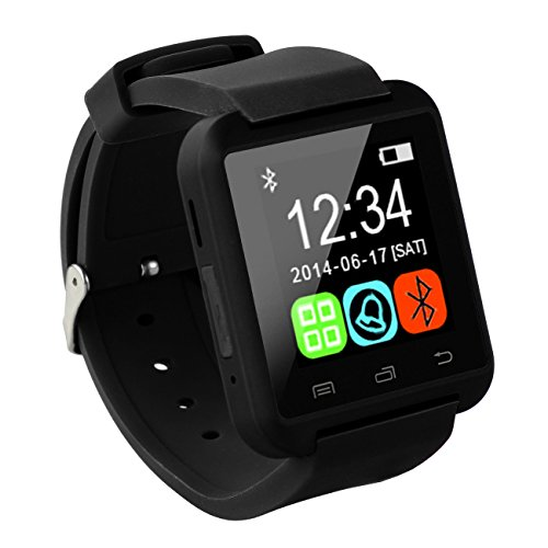 Tera U8 Bluetooth LCD Touch Screen Intelligent Watch Bracelet Wristband Pedometer Barometer Altimeter Black with Steps Tracking Phone Anti-lost Call Message Sync
