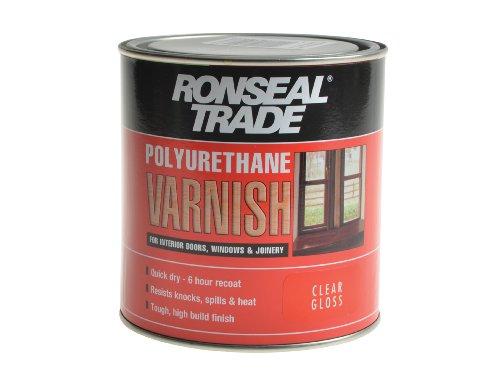 Ronseal TPUVGL1L Trade Polyurethane Varnish Gloss 1 Litre