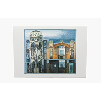 Greetings Card: 'Sectional Perspective of the Dome Area & Breakfast Room' by Copland