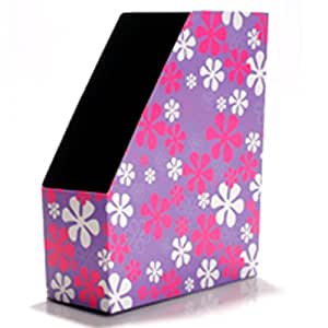 STORE - Magazine File Storage - Pack of 3 - Pink Flowers