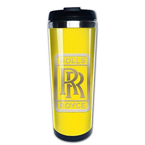 Rolls Royce Seek Logo Traveler Coffee Mug, 400ml, Stainless Steel (Rolls Royce Mug compare prices)