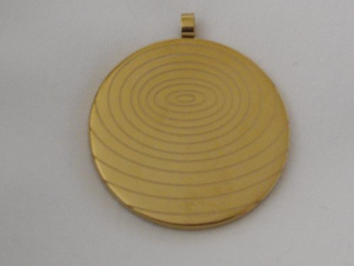 A Scalar Energy Store's M.S.T. Worldwide Gold Tone Scalar Energy Pendant (Can be Registered)