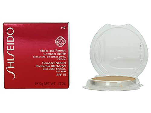 Shiseido, Sheer and Perfect, Ricarica per fondotinta compatto in polvere, 10 g, n. I40 Fair Ivory