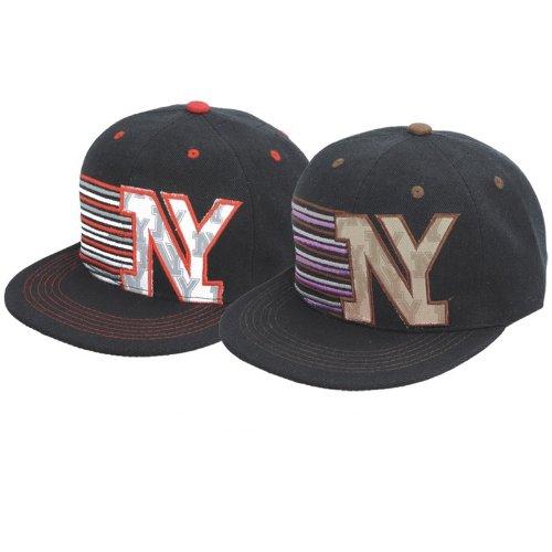 NY / NEW YORK STYLE FLAT PEAK CAP