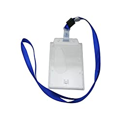 Ailisi Vertical Card Holder Neck Strap Lanyard Deep Blue Strap Belt Pack of 15