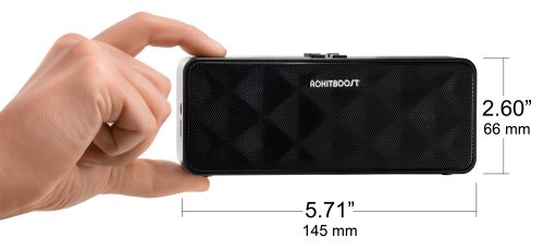 Rokit Boost 6Watt Rectangle Bluetooth Speaker With Built-In Microphone - Retail Packaging - Black