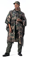 Woodland Camouflage G.I. Plus Enhanced Military Rip-Stop Poncho