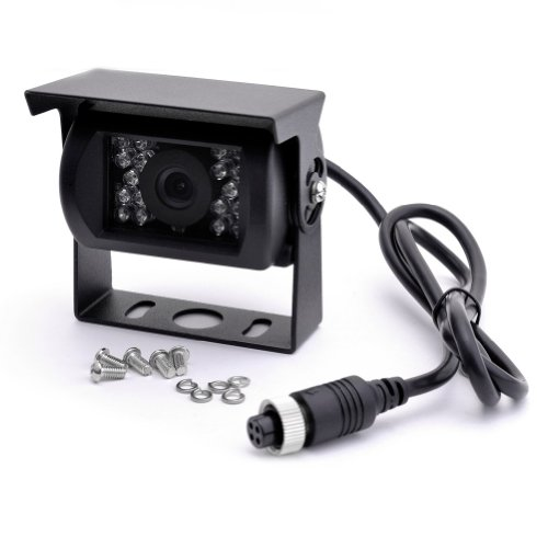 Neewer® Black Ntsc Waterproof 18 Ir Led Night Vision 2.5Mm 1/4 Ccd Car Rear/Side View Camera 120° Viewing Angle With Mirror Image Orientation front-676315