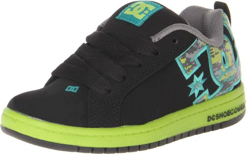 DC Shoes Boys Court Graffik S B Shoe Low-Top 301131B Black/Camo Print 5 UK Child, 37 EU