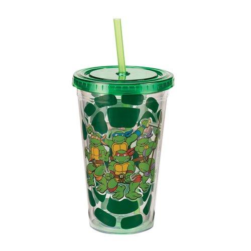 Vandor 38114 Teenage Mutant Ninja Turtles 18 oz Acrylic Travel Mug with Lid and Straw, Multicolor - 1