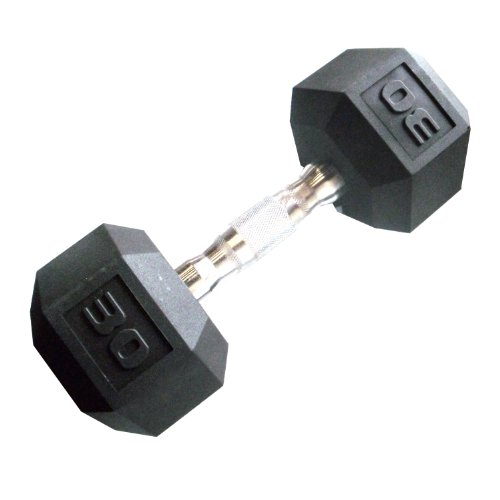 Cap Barbell Workouts Coated Hex Dumbbell, Black, 30 lb