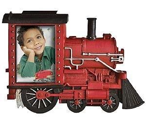 Red TRAIN LOCOMOTIVE ENGINE photo frame