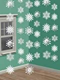 Hanging Strings of Snowflakes Christmas Decorations x 6
