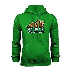 Marshall Champion Kelly Green Fleece Hood