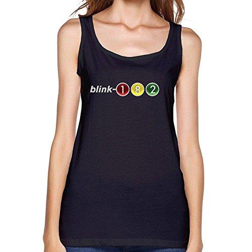 610340d667911 WANTAI Women s Blink 182 Traffic Light Tank Top Black