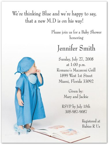Wee Md Baby Shower Invitations - Set Of 20 front-1048096