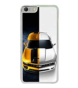 Dual Tone Luxury Car 2D Hard Polycarbonate Designer Back Case Cover for Micromax Canvas Knight 2 E471