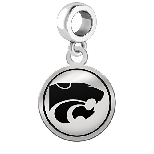Kansas State University Wildcats Border Round Dangle Charm